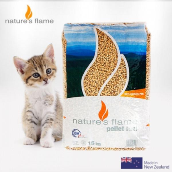 [네이쳐스플레임] 뉴질랜드 우드펠렛 15kg_고양이펠렛