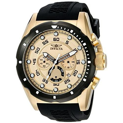 Invicta Mens 20306 Speedway 18k Gold Ion-Plated Stainless Steel Watch