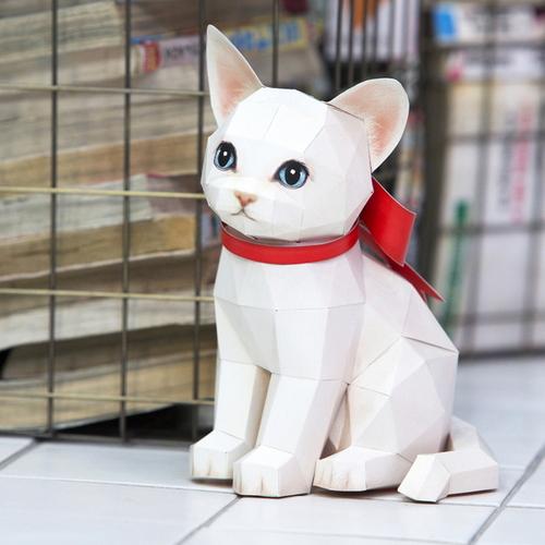 [바보사랑]터키시앙고라 고양이 DIY 페이퍼토이 만들기