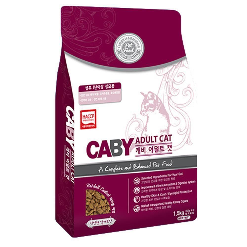 Caj + 고양이사료 어덜트캣1.5kg_S/N:C4+242CD8 ; (주)팜스코 CJN122C