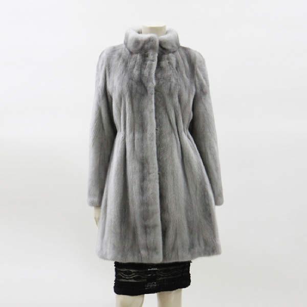 [현대백화점]진도 Klever 프렌치 유색 밍크 휘메일 코트 (KZW3EH12)