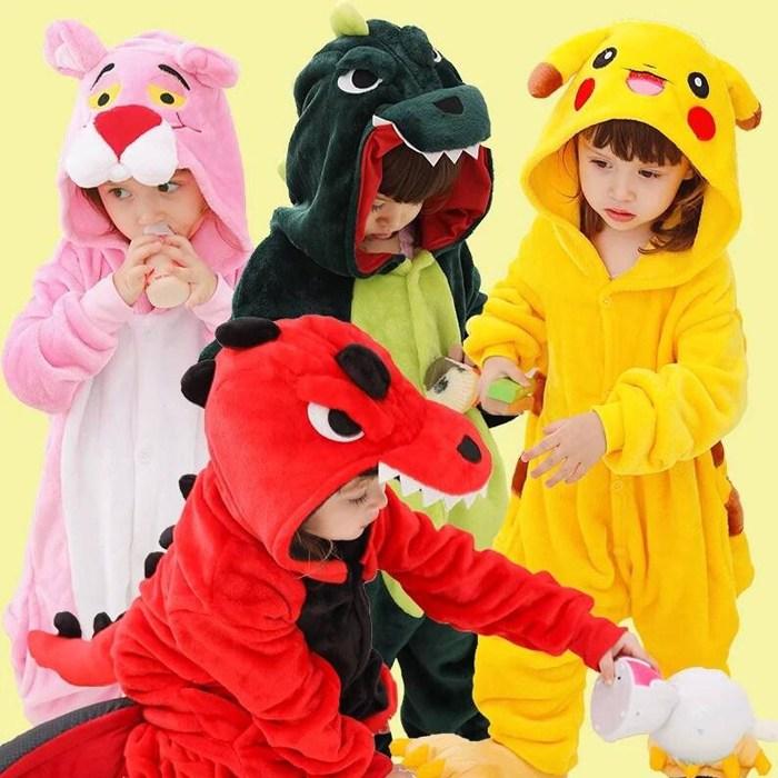 아이스쿨 아동 캐릭터 동물잠옷