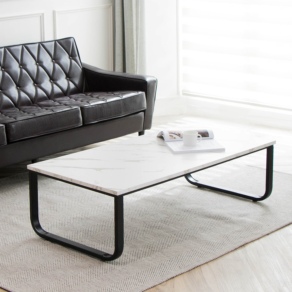 소담갤러리 [80조한정] 마블 1200 라운드 좌식테이블 소파 테이블