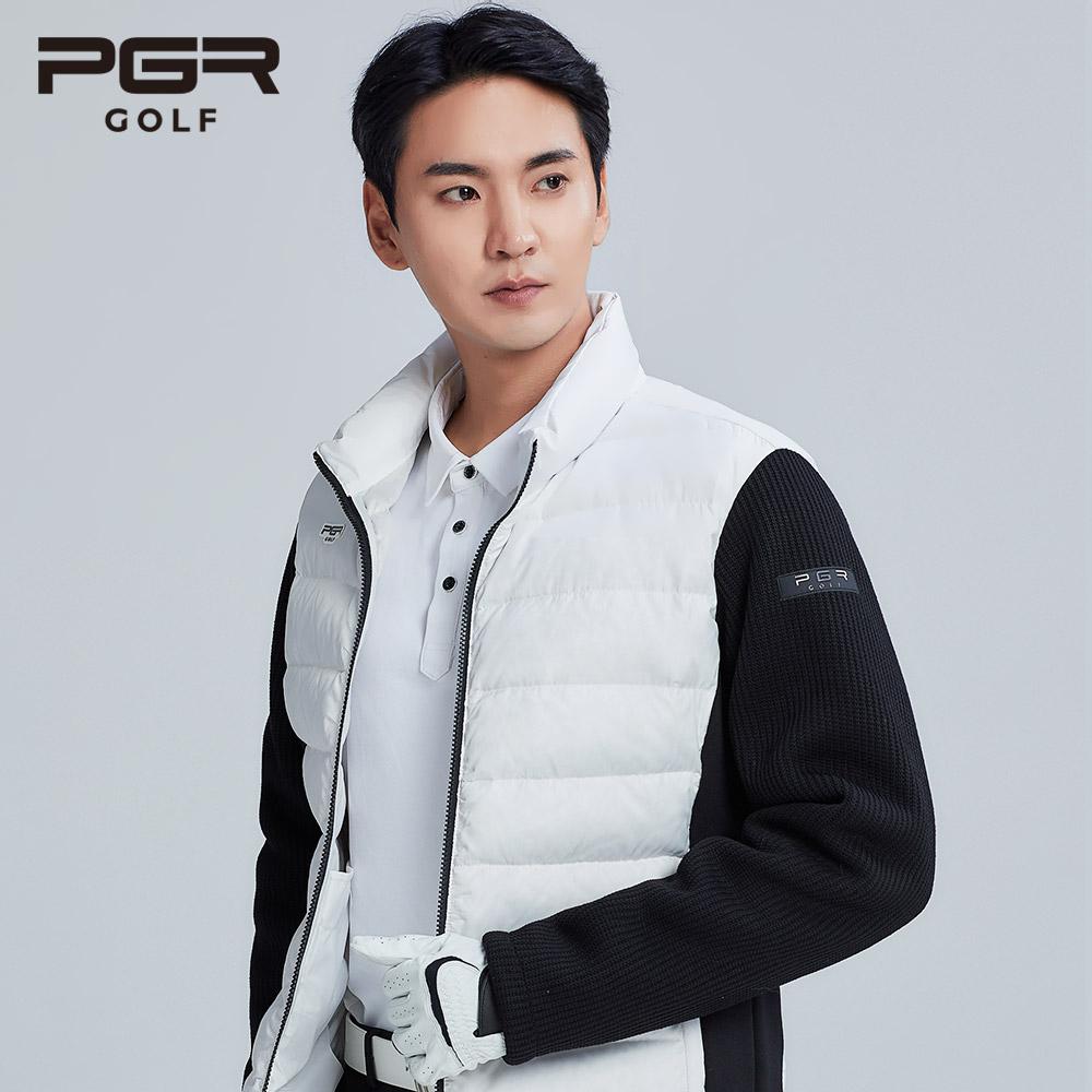 pgr 골프 웨어 남성 구스다운 패딩 점퍼 남자 골프복 자켓 334
