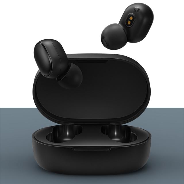 샤오미 홍미 블루투스 5.0 이어폰 무선이어폰 Redmi AirDots, Redmi AirDots-블랙