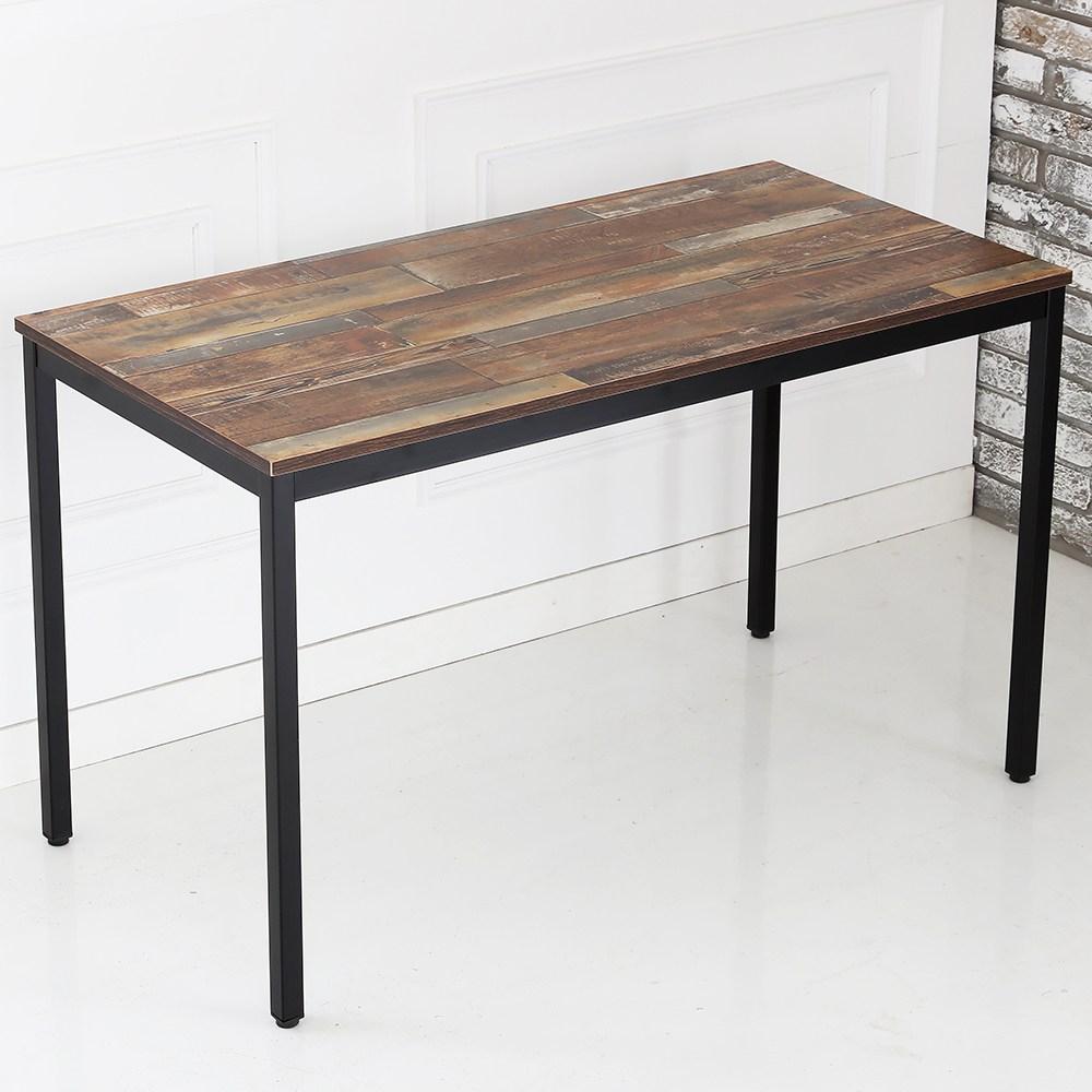 THEJOA 모던테이블 카페 테이블 업소용 입식 식탁 회의실 테이블, 1200 빈티지브라운