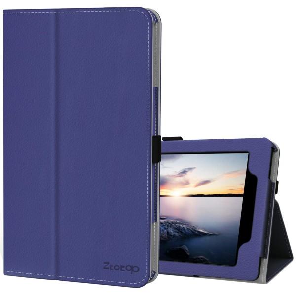 10 인치 태블릿 10 인치 태블릿 2019/2018/2017 (자동 웨이크 / 수면) DarkBlue에 대한 케이스 커버 스탠드 슬림 접는, 단일상품, 단일상품
