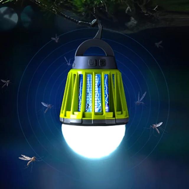 휴대용 모기 해충 퇴치 생활방수 캠핑랜턴 LED 캠핑랜턴, 1개, 오렌지