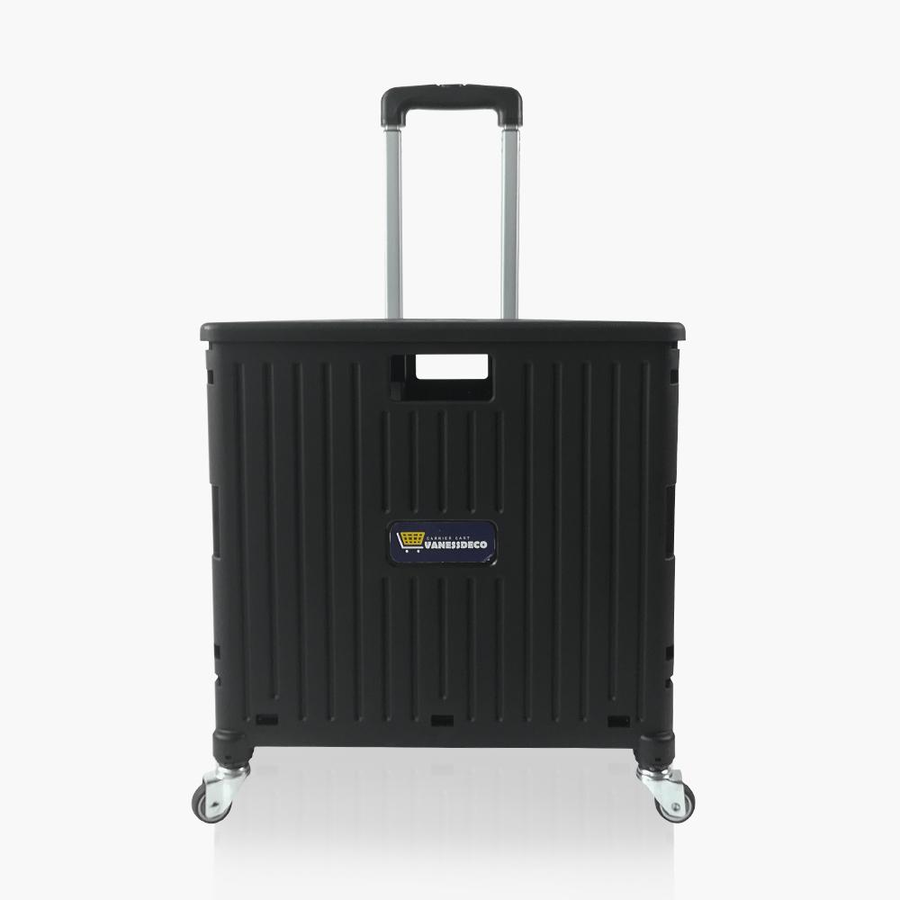 바네스데코 4바퀴 고급 접이식 핸드카트 52L/35kg 블랙 (덮개포함), 단품