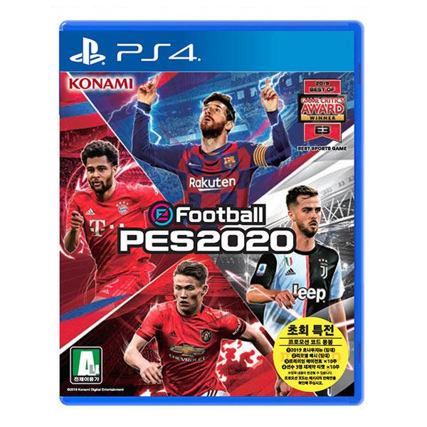 PS4 PES E풋볼 2020 위닝일레븐 한글초회판., PS4 위닝일레븐 2020
