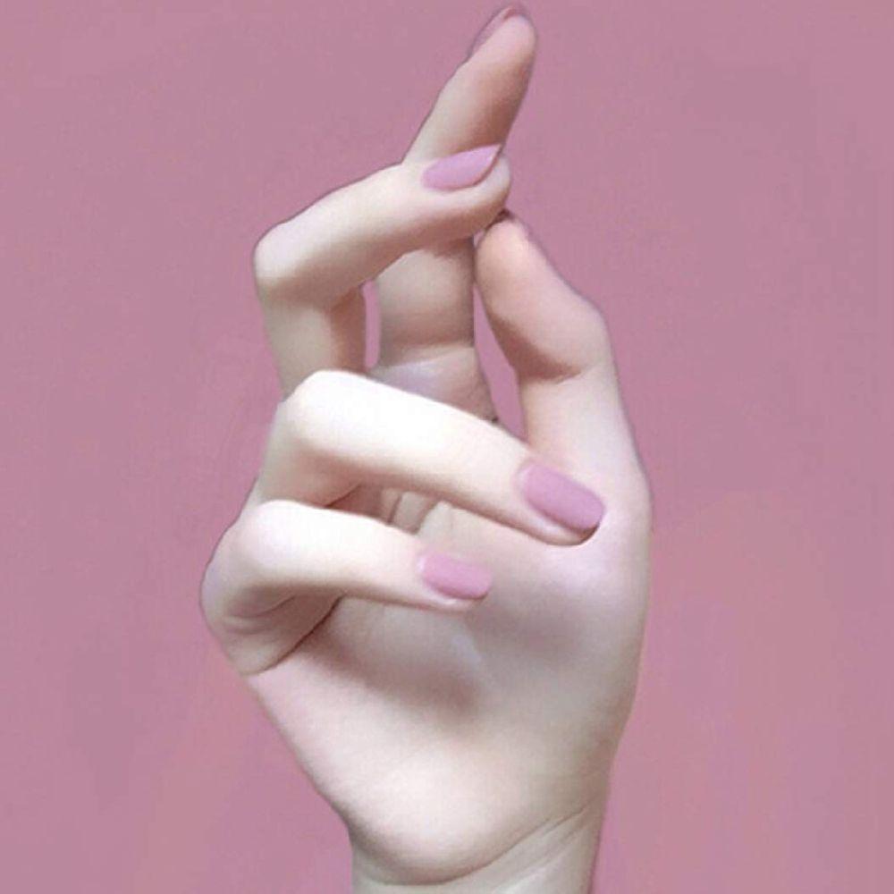 Nicute Nicute 매트 짧은 프레스 손톱 광장 핑크 퍼플 가짜 네일 풀 커버 순수한 컬러 거짓 손톱 스티커, 상세페이지참조, none