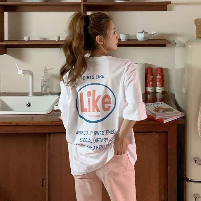 온더리버 라이크 오버핏 반팔 티셔츠
