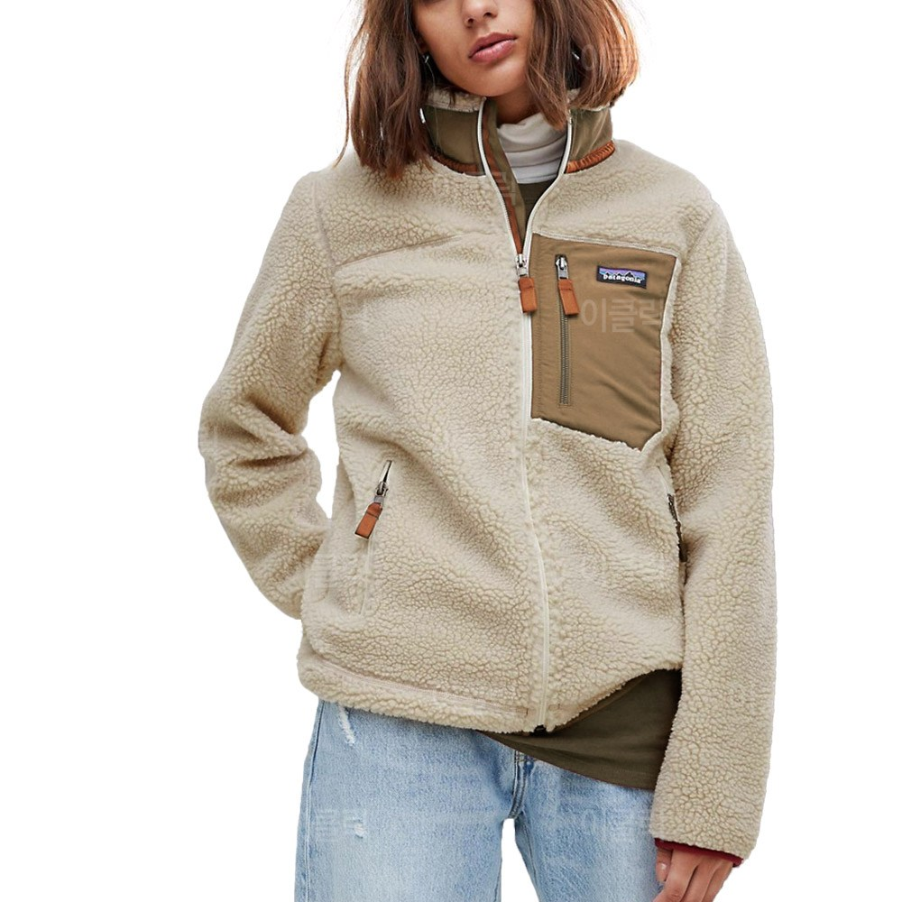 [해외배송] 파타고니아 클래식 레트로 x 플리스 자켓 네츄럴 여성 겨울 뽀글이 양털 점퍼