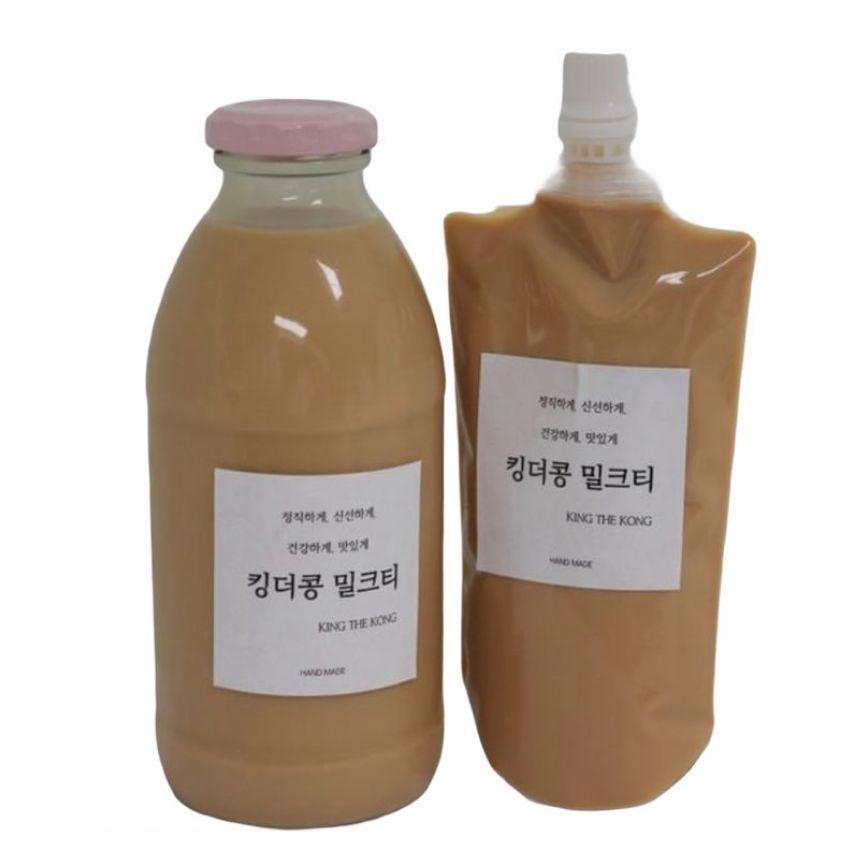 킹더콩 오리지널 수제 밀크티 250ml, 500ml(병포장)