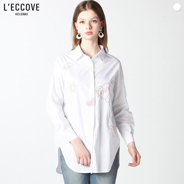 레코브 레코브(LECCOVE) 러브 스티치 루즈핏 셔츠 (택가격:49800원)