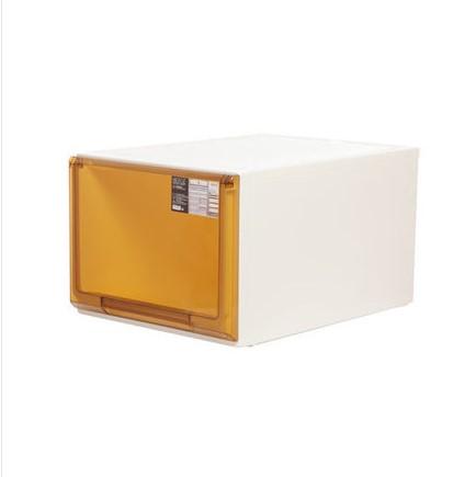 침대협탁 플라스틱 서랍식 수납장 캐비닛 국다용도 침대헤드 장난감 옷가지 문서 자유롭게조합가능, C09-5116투명한 브라운 44리터