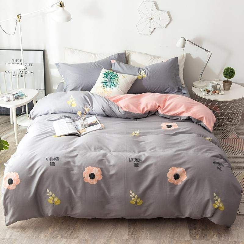 침구세트 .사종 커버전체 면퓨어 솜침대 용품세트 맨몸으로수면 이불커버 침구커버 침대커버 쓰리피스 남녀 커플용품 침대용, C01-1.5m(5피트)침대