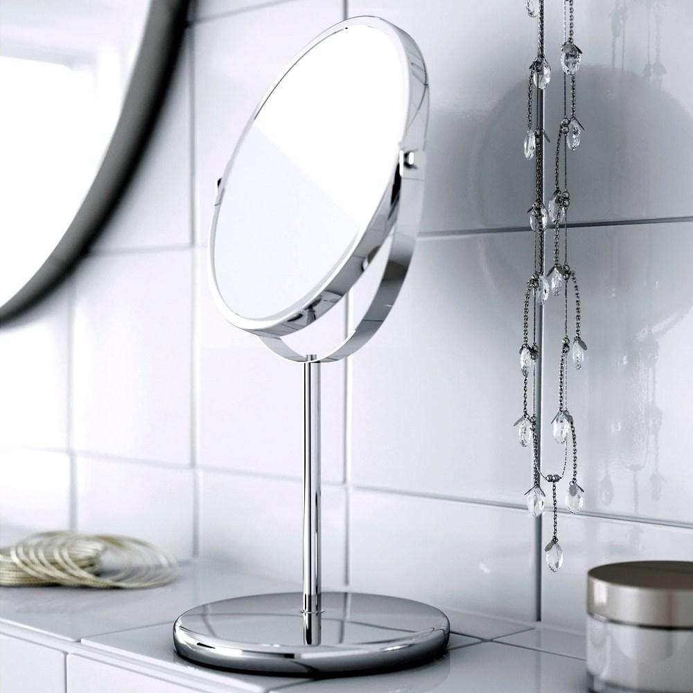 이케아 탁상거울 양면탁상거울 확대거울 화장거울, 실버
