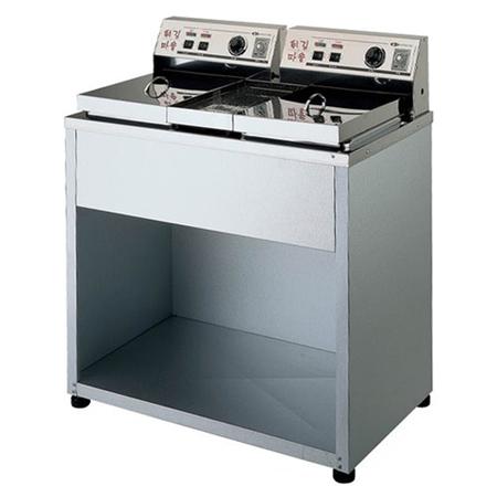 대신전기산업 DS-200 도장 2구 전기튀김기