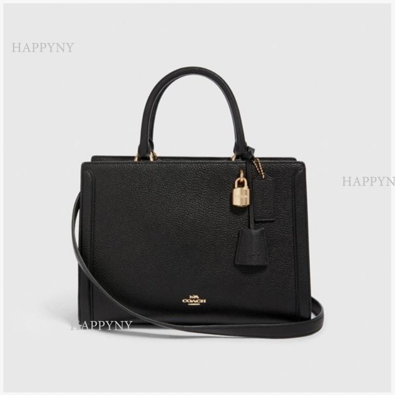 코치 [HAPPYNY]COACH_88037 ZOE CARRYALL BAG(BLACK)