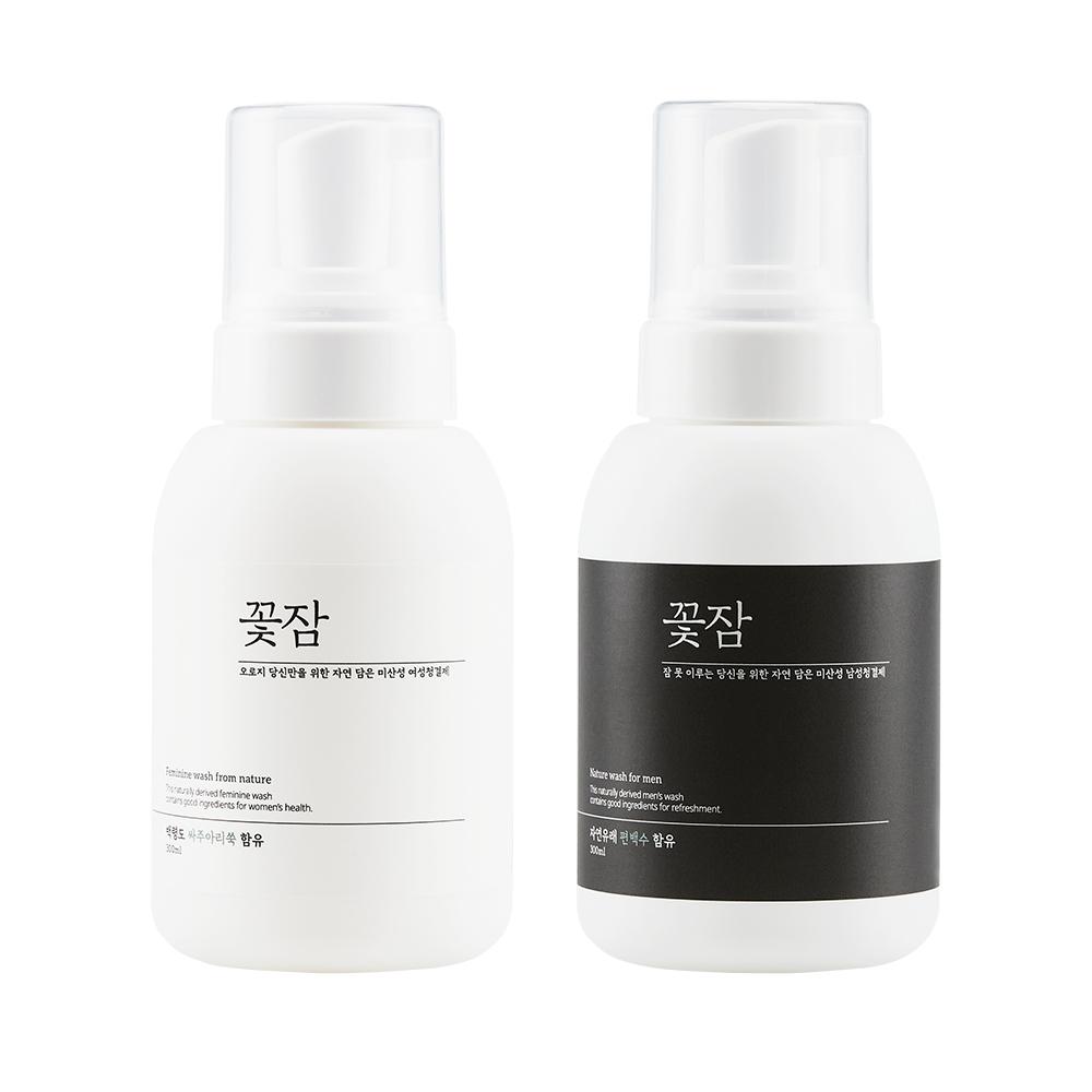 꽃잠 네이처 여성+남성청결제 세트 / 커플선물, 1set, 300ml