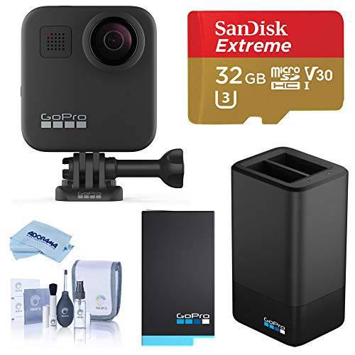고프로 MAX 방수 360 카메라 with 터치 Screen 5.6K30 UHD Video 16.6MP 포, 상세내용참조