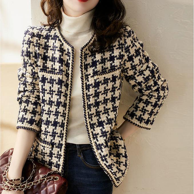 [루미] 여성용 로맨틱 트위드 자켓