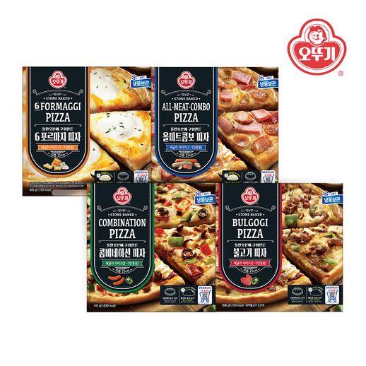 오뚜기 냉동피자 4팩 골라담기, 콤비네이션 피자2+불고기 피자2