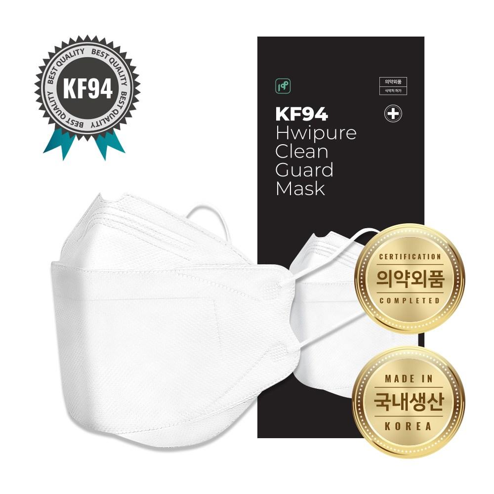 클린가드 KF94 황사방역용 식약처인증 국내생산 마스크 대형 1매입, 1매입 100매