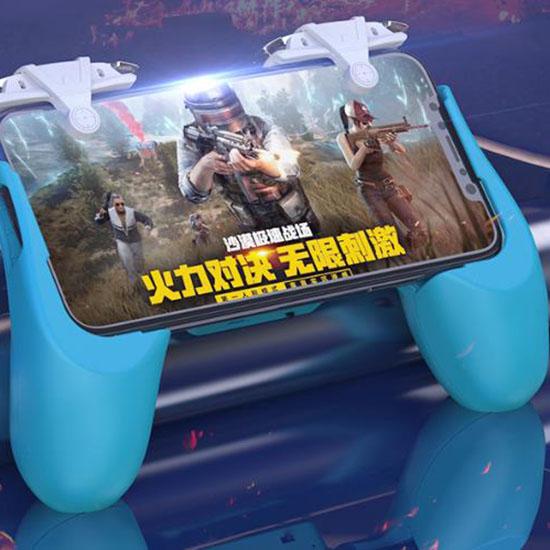 빅피플 스마트폰 배그트리거 조이스틱 DE57, 1, 블루