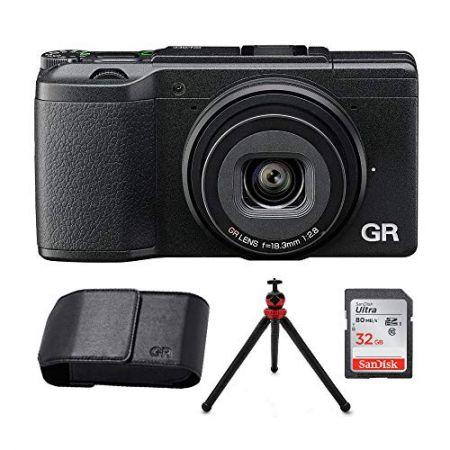 Ricoh GR II Digital Camera (Black) wRicoh Leather case 32GB SD Card (4 Items) PROD330005813, 상세 설명 참조0