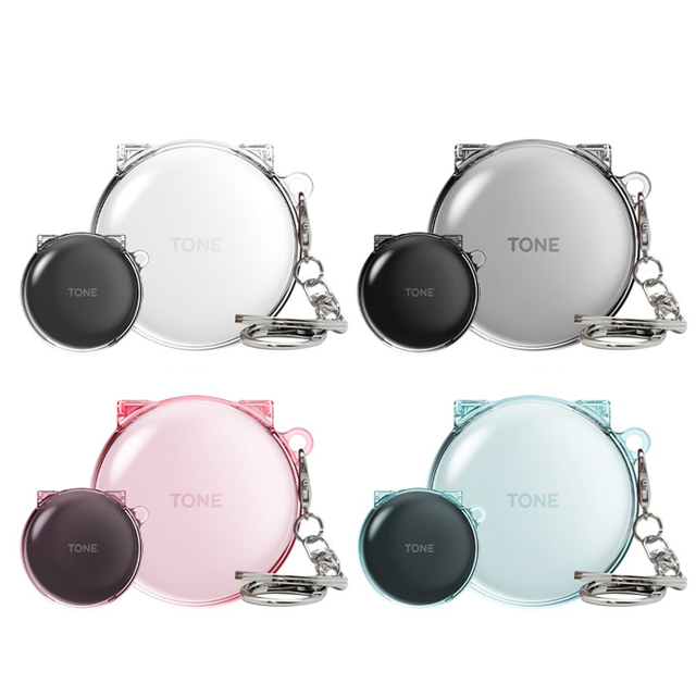 LG 톤프리 솔리드 클리어 투명 하드케이스 HBS-TFN6, 클리어 핑크