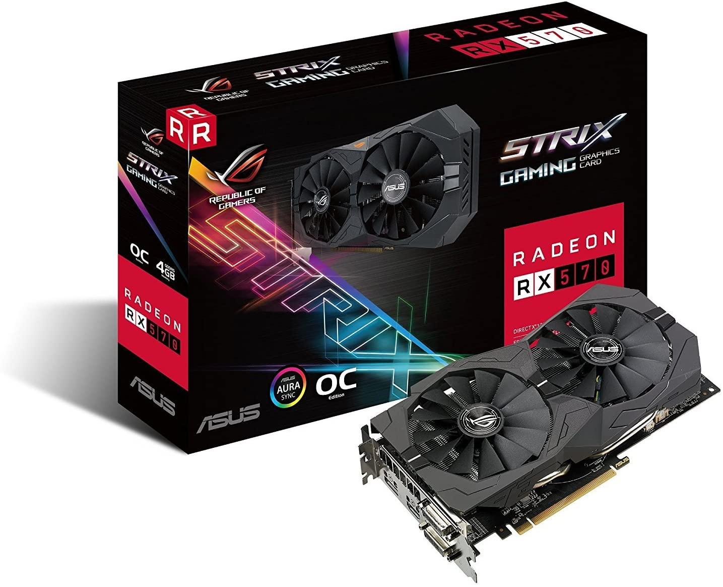 3.예상수령일 2-6일 이내 ASUSTek ASUS 그래픽 카드 Strix 시리즈 AMD Radeon RX570 탑재 비디오 카드 ROG, 상세 설명 참조0