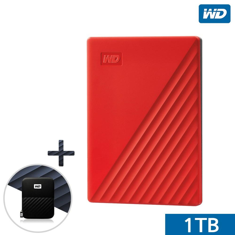 WD NEW MY PASSPORT 외장하드 1TB 2TB 4TB 5TB, 레드