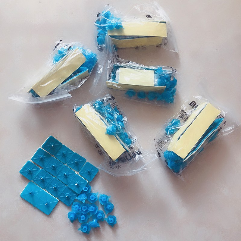 3D프린터소모품 자성 망사커튼 바란스 부속품 모기방지 접착식입구 알루미늄합금 스티커형 불필요못 접착고리 매직, T01-블루(6포장)