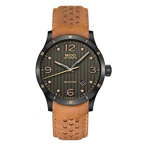Mido Multifort Gent M025.407.36.061.10 Grey / Brown Leather/42263756