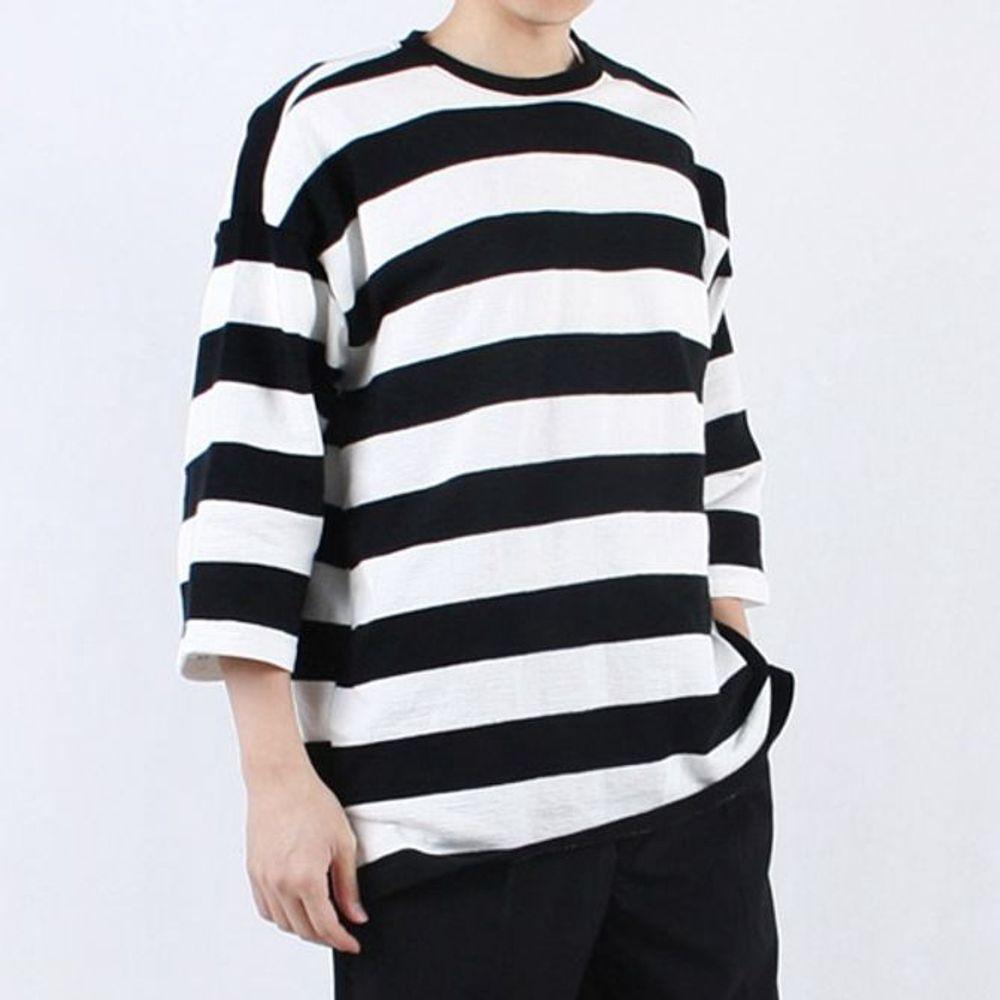ksw87866 남자 반팔 티셔츠 빅사이즈 7부 비치 반팔티 yu351 오버핏