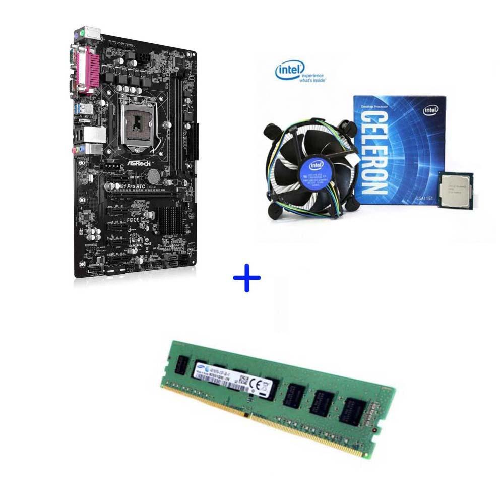 채굴기세트 메인보드 중고 6WAY ASRock H81 PRO 6WAY CPU 4G RAM포함 채굴기 이더리움 비트코인, 메인보드6way