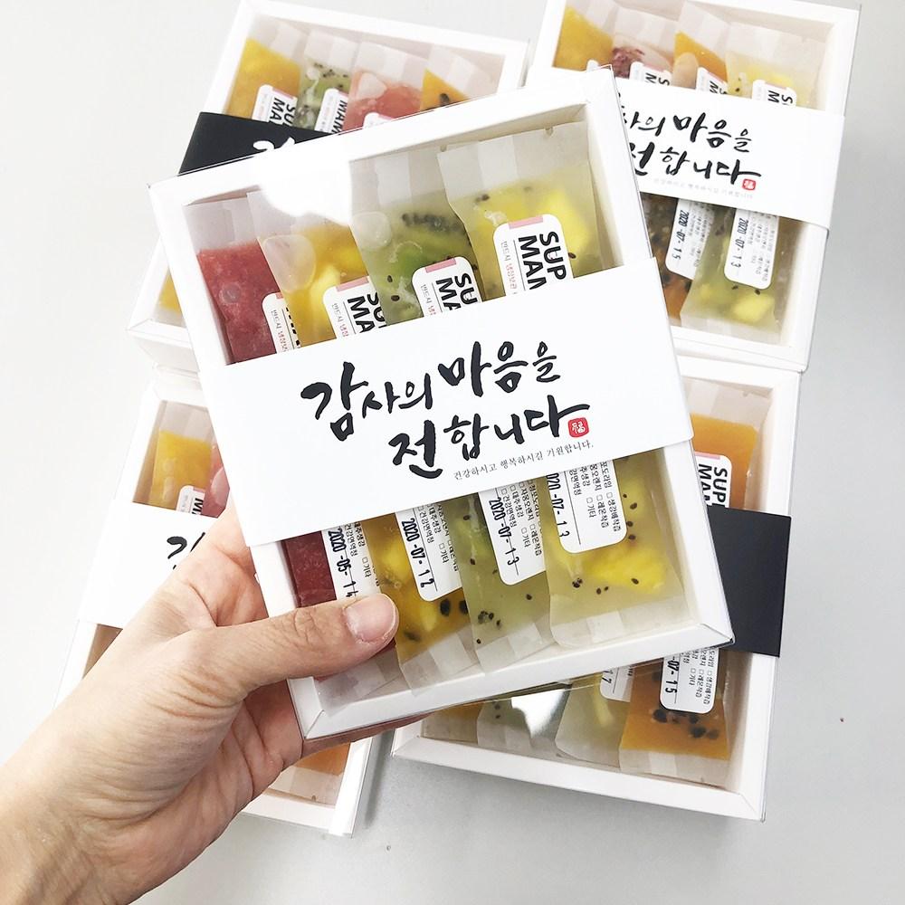 [슈퍼마마] 스틱청 선물세트 수제청 과일청 추석 명절 부모님 선생님 답례품, 50그램 4개입