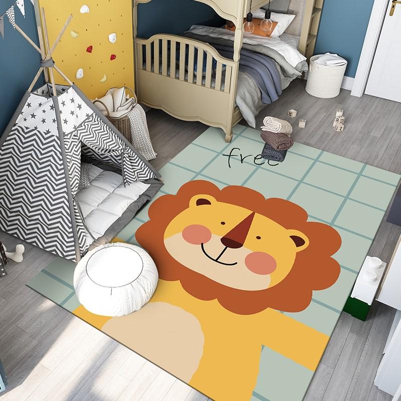 유아러그 아기방러그 캐릭터러그 아이방 매트 카페트, 정글의 왕