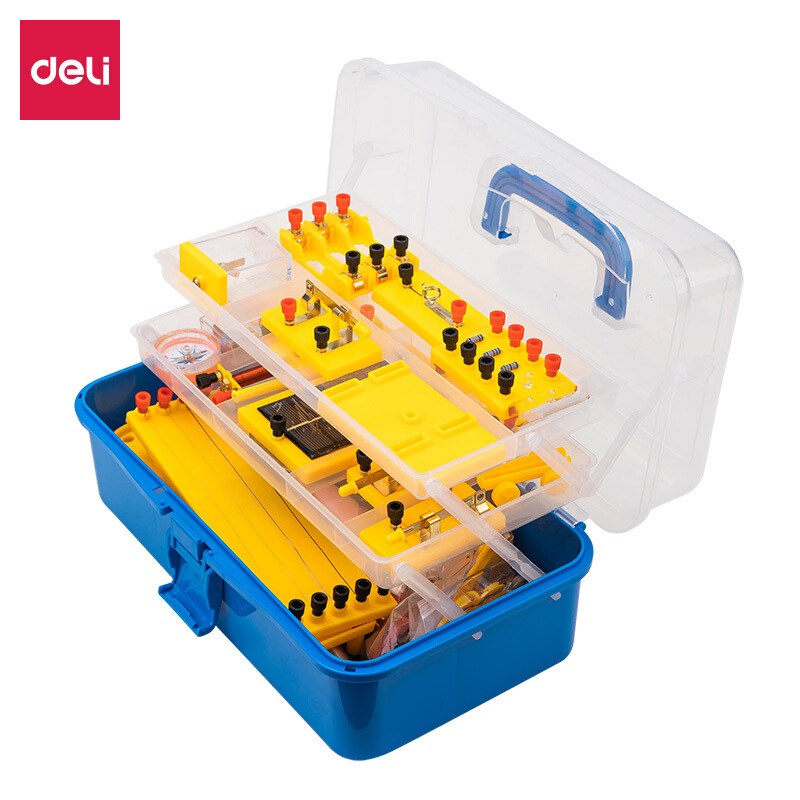 득 력 (deli) 중학교 물리 전기 실험 상자 전기학 실험 기자재 과학 전기 기구 중학교 3 물리 실험 상자 33304