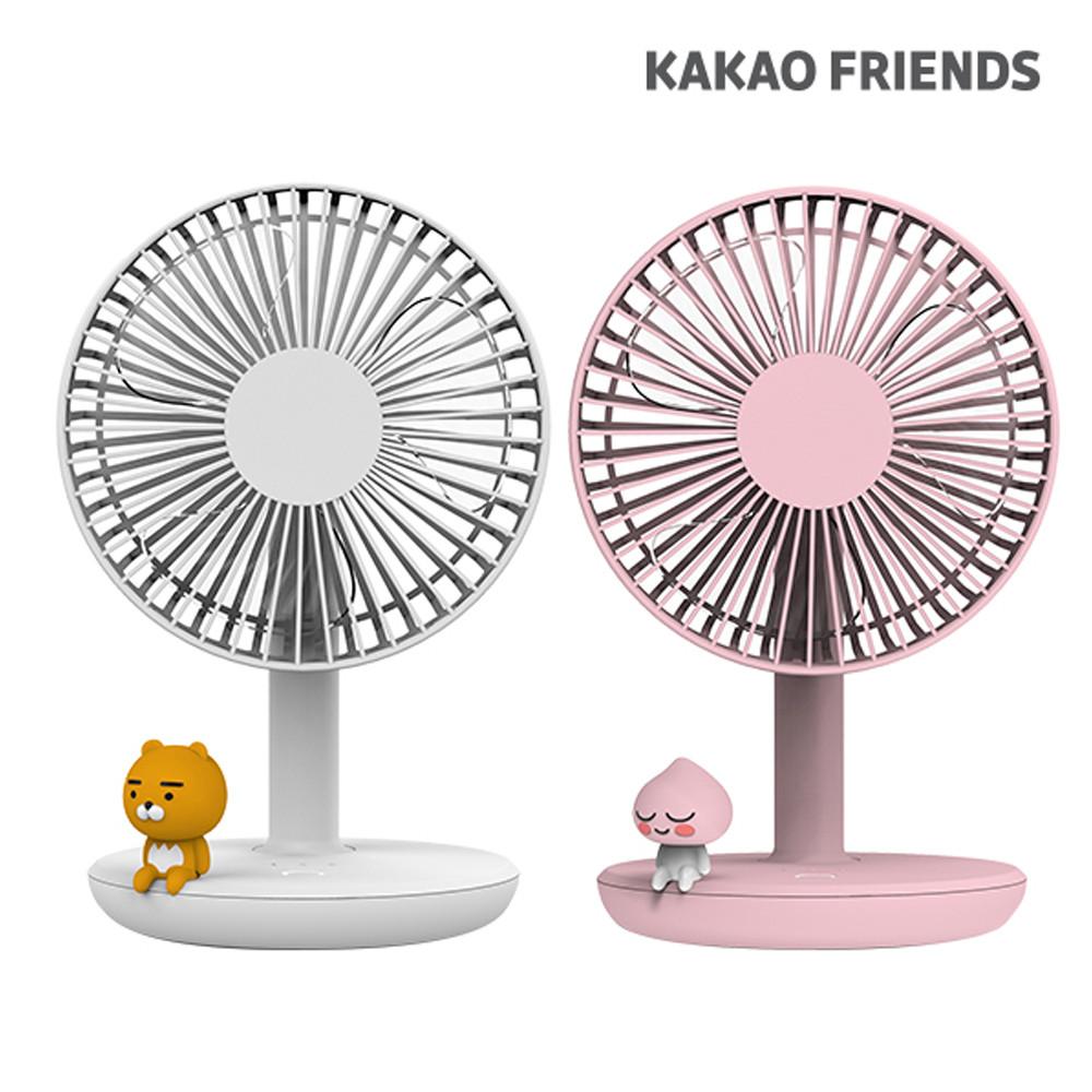 카카오프렌즈 탁상용선풍기 무선 미니 휴대용 회전 C타입 선풍기, 라이언(화이트) (POP 5386107361)