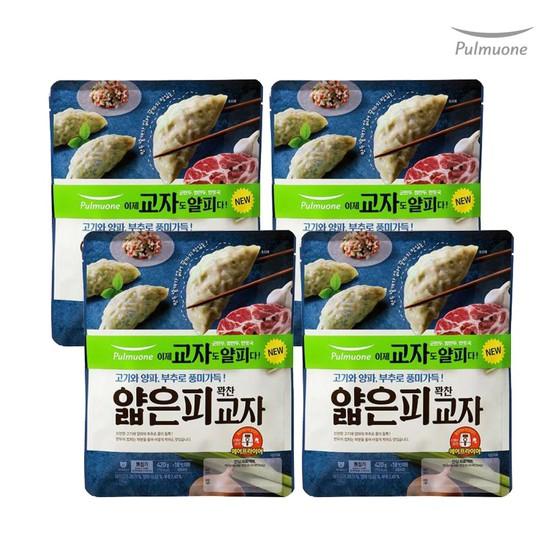 [풀무원]생가득 얇은피 고기 교자만두 8봉420gx8, 없음, 상세설명 참조