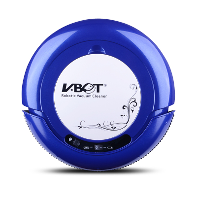 물걸레 겸용 추락 방지 진공 청소기 인공 지능 로봇, 테크놀로지 블루