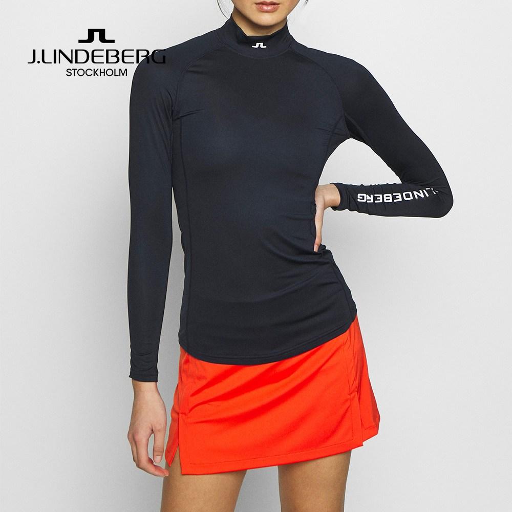 제이린드버그 여성 골프 아사 소프트 컴프레션 티셔츠, Navy