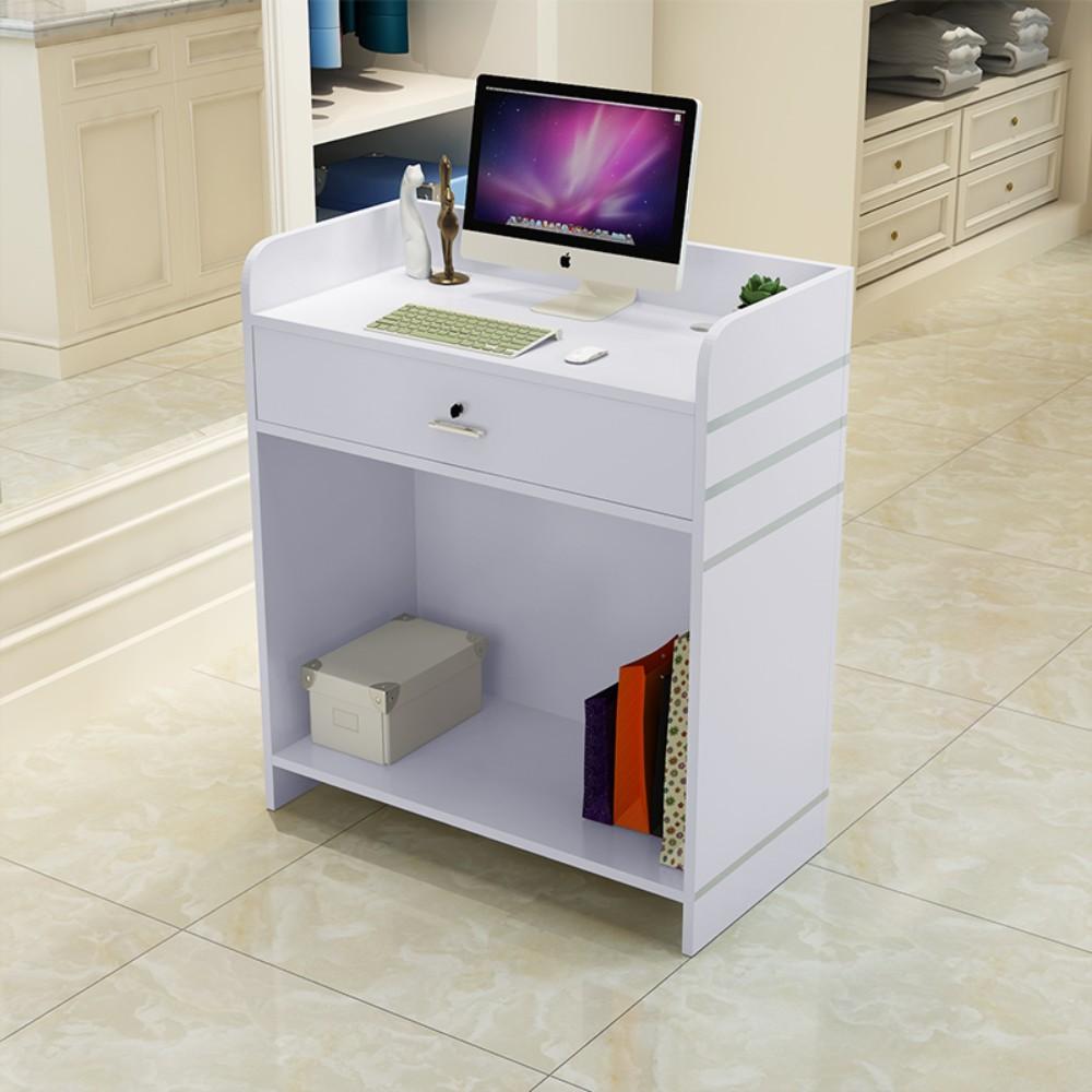 프론트 데스크 테이블 심플 점포 카운터 데스크 소형 계산대, 하얀 + 60x40x92cm