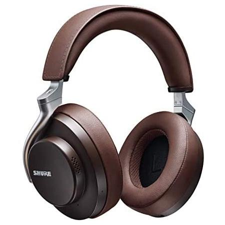 해외1518882 Shure 슈어 AONIC 50 무선 노이즈 캔슬링 headphones Premium Studio-Quality sound 블루투, One Size_Brown, 상세 설명 참조0, Brown