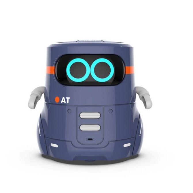AT 스마트로봇 인공지능 미니게임 노래 댄스 터치 컨트롤 RC로봇, 블루