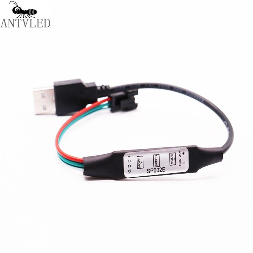 3 키 미니 USB RGB Led 컨트롤러 SP002E WS2812B WS2812 드림 컬러 Led 픽셀 스트립 DC5V|RGB Controlers|, 1개, 단일, 단일