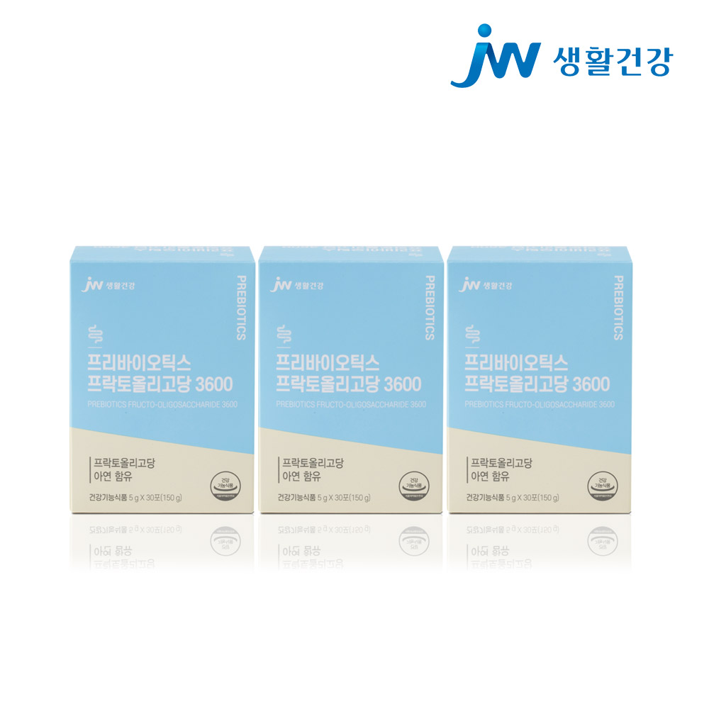 JW생활건강 프리바이오틱스 3600 아연함유 3박스 유산균 분말 가루 프락토올리고당 추천 유익균먹이, 단품, 단품